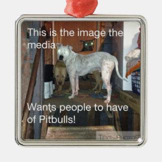 Pitbulls Julgransprydnad Metall