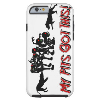 Pitbulls vs. rolig logotypdesign för Zombies Tough iPhone 6 Fodral