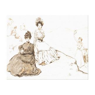 Pittoreska Amerika 1900 Canvastryck