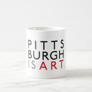 Pittsburgh är konstmuggen kaffemugg