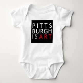 Pittsburgh är konstspädbarnrankan t-shirt