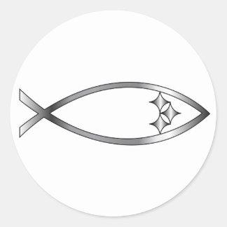 Pittsburgh fisk runt klistermärke