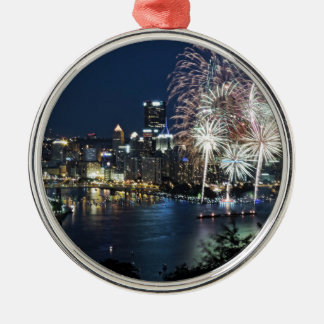 Pittsburgh fyrverkerier julgransprydnad metall