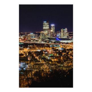 Pittsburgh horisont på natten brevpapper
