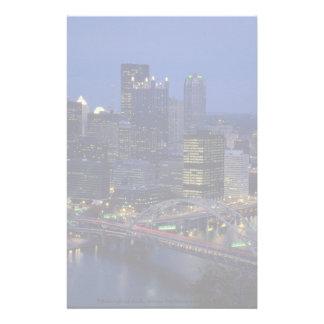 Pittsburgh på skymningen, över den Monongahela Brevpapper