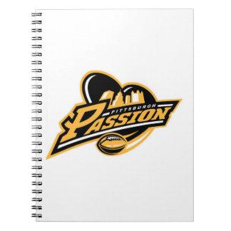 Pittsburgh passionanteckningsbok anteckningsbok med spiral