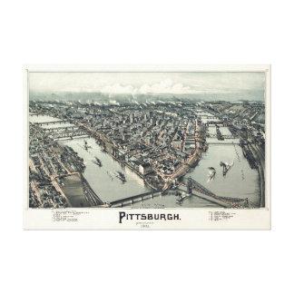 Pittsburgh Pennsylvania, 1902 av den Thaddeus Canvastryck