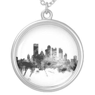 Pittsburgh Pennsylvania horisont Silverpläterat Halsband