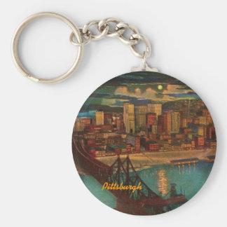 Pittsburgh vid månsken Keychain Nyckelring