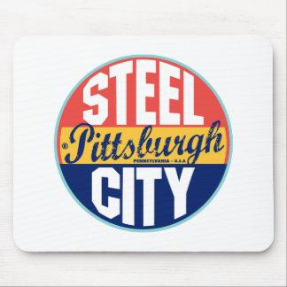 Pittsburgh vintageetikett musmatta