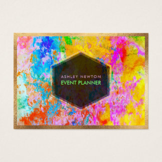 PixDezines abstrakt galax-/neonfärger Visitkort