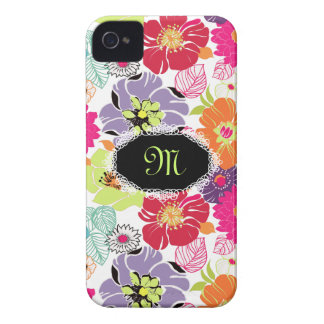 PixDezines Alegre Retro blommigt, iPhone 4 Case