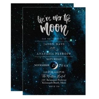 PixDezines är vi över månebröllop 12,7 X 17,8 Cm Inbjudningskort