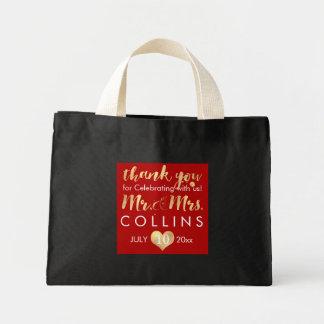 PixDezines Fauxguld Heart/Mr.&Mrs. /Thank dig Mini Tygkasse