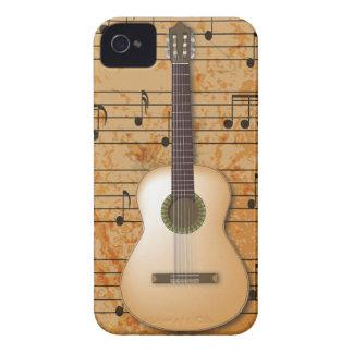 PixDezines gitarr+Vintagenotblad iPhone 4 Case-Mate Fodraler