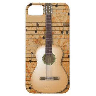 PixDezines gitarr+Vintagenotblad iPhone 5 Fodral