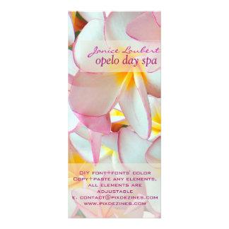 PixDezines hawaiansk rosa plumeria Rackkort Med Full Färg