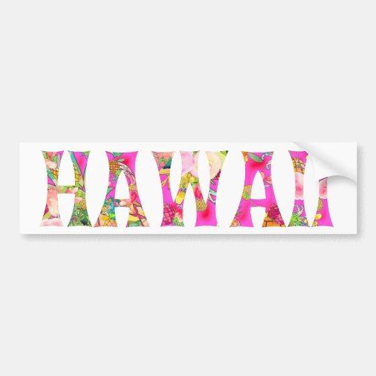 PixDezines Hawaii Tiki typografi Bildekal