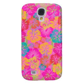 PixDezines Hibiscus/DIY bakgrundsfärg Galaxy S4 Fodral