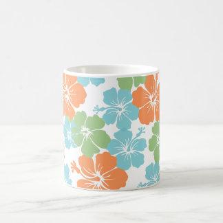 PixDezines hibiskus/diy bakgrundsfärg Kaffemugg