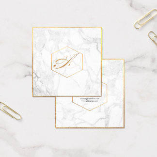 PixDezines marmor+Eleganten skrivar Fyrkantigt Visitkort