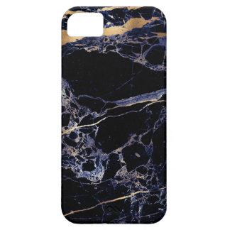 PixDezines marmor, midnatt blått + Guld- åder iPhone 5 Case-Mate Fodral