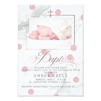 PixDezines marmor+Pricker dop rosa guld för 12,7 X 17,8 Cm Inbjudningskort