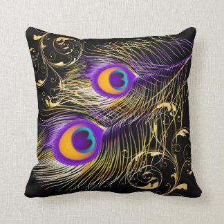 PixDezines psychedelic påfågel/diy bakgrund Kudde