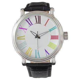 PixDezines roman numeros/diy bakgrundsfärg Armbandsur