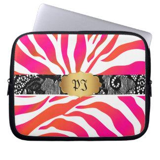 PixDezines sebra/diy bakgrundsfärg Laptopskydd Fodral