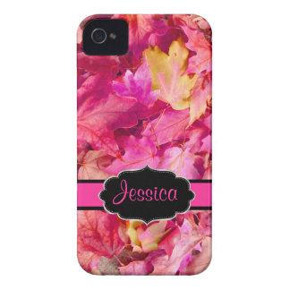 PixDezines shock rosalönnlöv/nedgång iPhone 4 Case-Mate Fodral