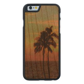 PixDezines solnedgång på den Manua Kea stranden Carved Körsbär iPhone 6 Slim Skal