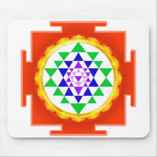 PixDezines Sri Yantra Chakra röjning/orange glöd Musmatta