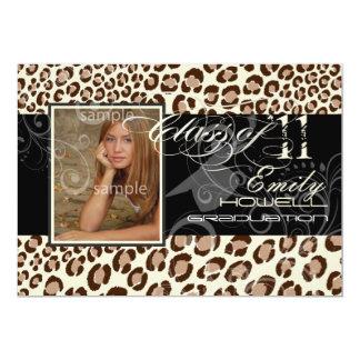 PixDezines studenten 2012/leopard/diy bakgrund 12,7 X 17,8 Cm Inbjudningskort