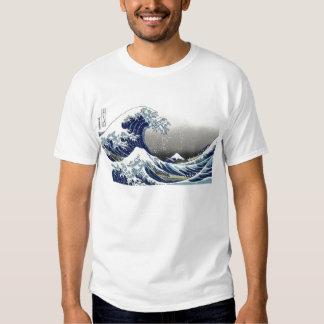 PixDezines vintage, underbar vinkar, Hokusai T-shirts