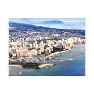 PixDezines Waikiki från fönster placerar. Canvastryck