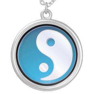 PixDezines Yin Yang, kricka Silverpläterat Halsband