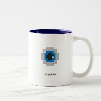 Pixel_Eyeball Två-Tonad Mugg