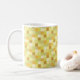 PIXEL för mönster | för Gamer | guld- Pixelated Kaffemugg