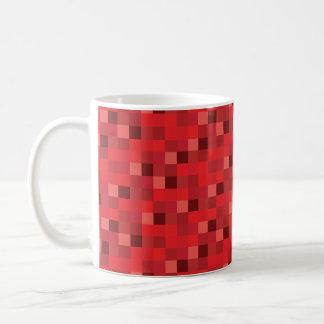 PIXEL för mönster | för Gamer | röda Pixelated Kaffemugg