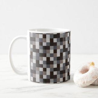 PIXEL för mönster | för Gamer | svart Pixelated Kaffemugg