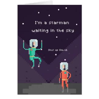 PIXEL Starman Hälsningskort