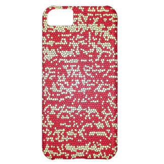 Pixelated rött iPhone 5C fodral