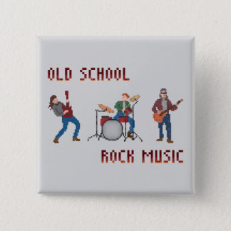 PIXELold schoolrock musik Standard Kanpp Fyrkantig 5.1 Cm