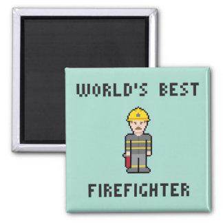 PIXELvärlds bäst brandman Magnet