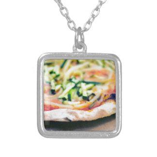 Pizza-12 Silverpläterat Halsband