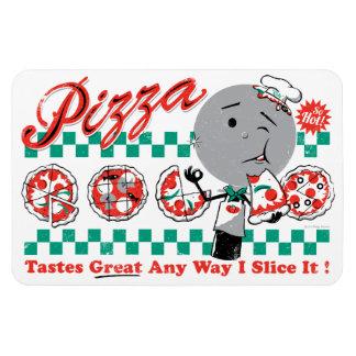 Pizza Any långt skivar jag den den Retro Magnet
