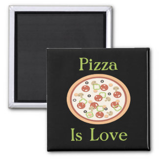 Pizza är kärlekmagneten magnet