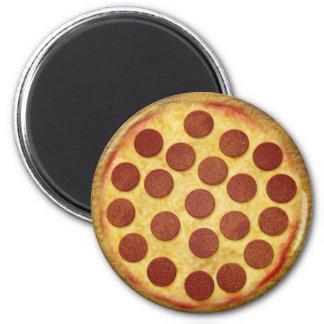 Pizza knäppas magnet