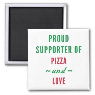 Pizza och kärlek magnet